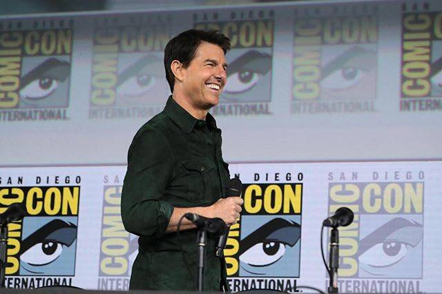 """Tom Cruise on Instagram: """"Thank you to all the fans who came out to Hall H today. It was great to share our first trailer for Top Gun: Maverick with you all."""" (543881)"""