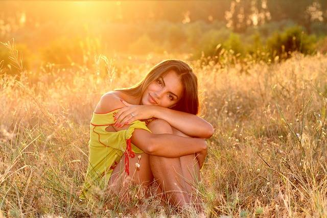 Girl Grass Sunset · Free photo on Pixabay (24782)
