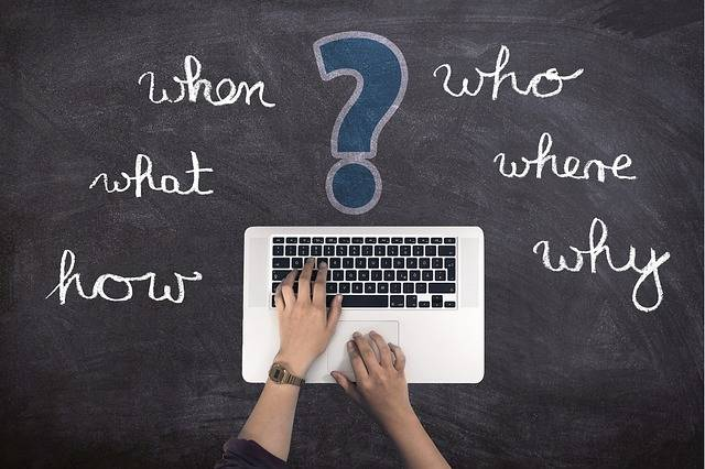 Questions Laptop Hand - Free photo on Pixabay (113147)