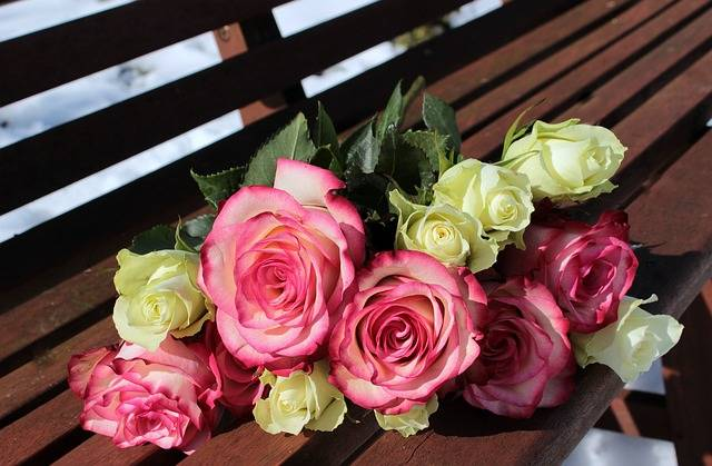 Bouquet Of Roses Pink White - Free photo on Pixabay (118036)