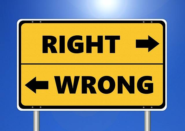 Ethics Right Wrong - Free photo on Pixabay (119006)