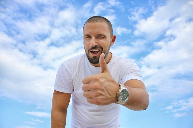 Young Man Blue Sky Thumbs Up - Free photo on Pixabay (125800)