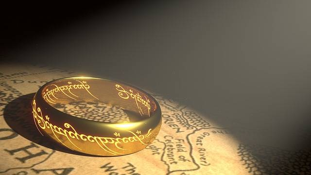 Ring Gold Middle Earth Golden - Free image on Pixabay (128221)