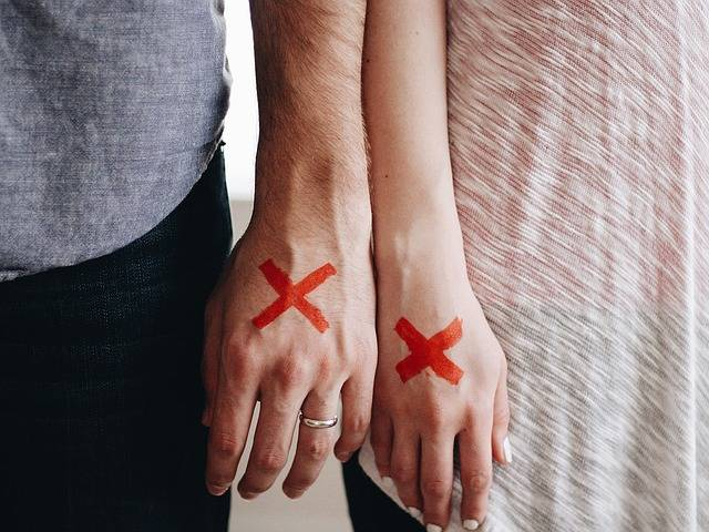 Hands Couple Red X - Free photo on Pixabay (134618)