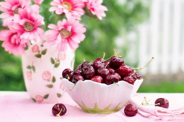 Cherries In A Bowl Fruit Summer - Free photo on Pixabay (137999)