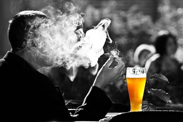 Man Smoke Beer - Free photo on Pixabay (140489)