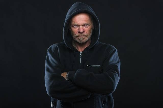 Angry Man Hoodie - Free photo on Pixabay (140757)