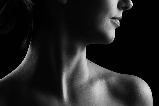 Neck Black And White Beauty - Free photo on Pixabay (147962)