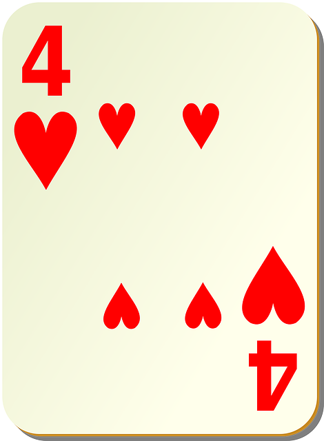 Hearts Playing Cards Four - Free vector graphic on Pixabay (155927)