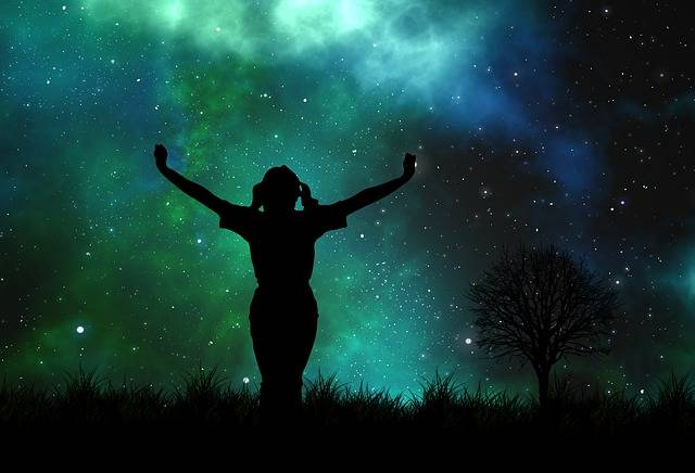 Universe Person Silhouette - Free image on Pixabay (175426)