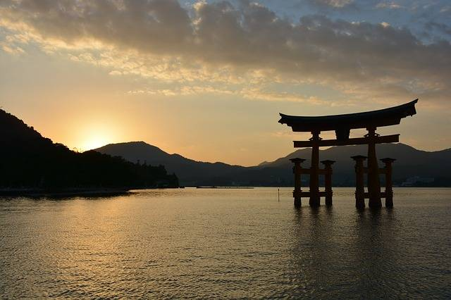 Shrine Torii Sunset At - Free photo on Pixabay (192268)