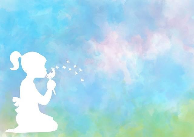 Silhouette Girl Dandelion - Free image on Pixabay (228849)