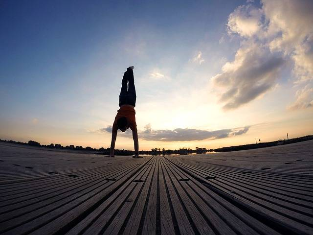 Handstand Evening Sky Beach - Free photo on Pixabay (237455)