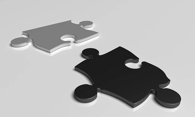 Puzzle Black White - Free image on Pixabay (246408)