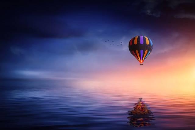 Hot Air Balloon Lake - Free photo on Pixabay (252356)