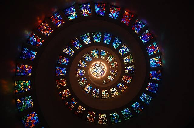 Stained Glass Spiral Circle - Free photo on Pixabay (253339)