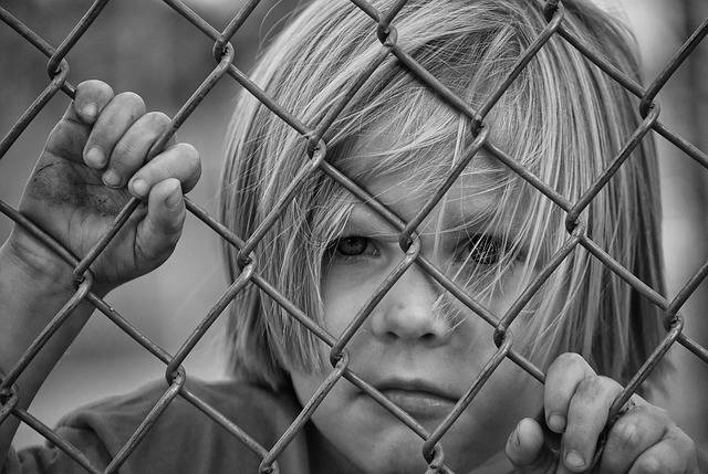 Boy Looking Fence Chain - Free photo on Pixabay (253426)