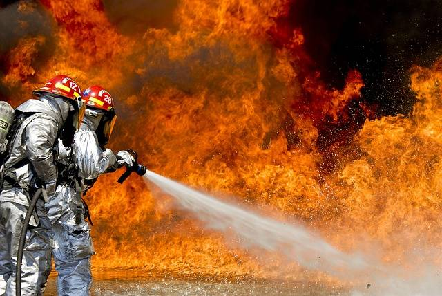Firefighters Fire Flames - Free photo on Pixabay (259410)