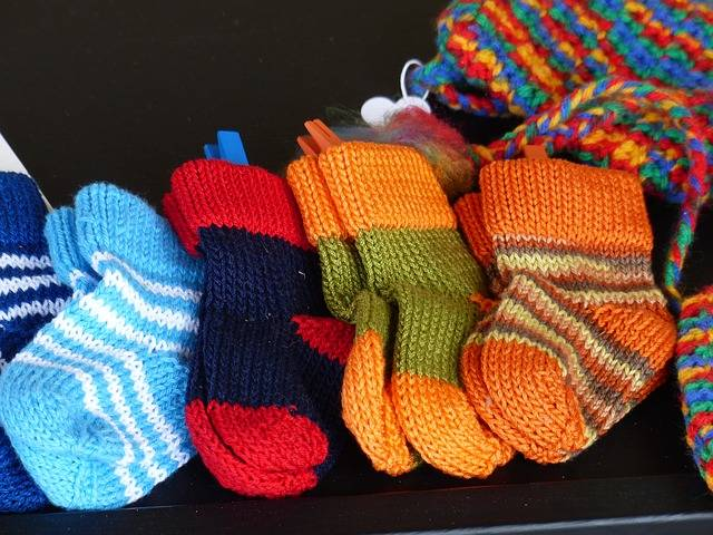 Socks Knitted Colorful - Free photo on Pixabay (308571)