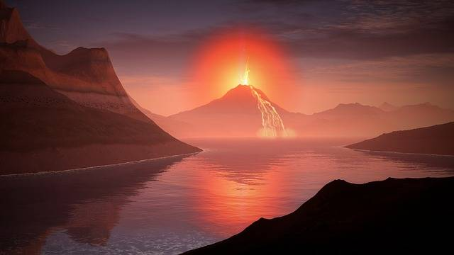 Volcano Lava Landscape - Free image on Pixabay (318916)