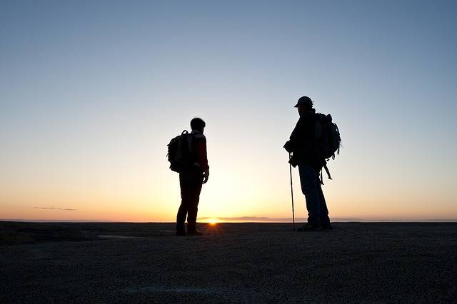 Hikers Silhouettes Sunset - Free photo on Pixabay (328257)