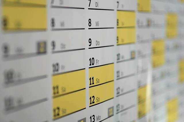 Calendar Wall Days - Free photo on Pixabay (334599)