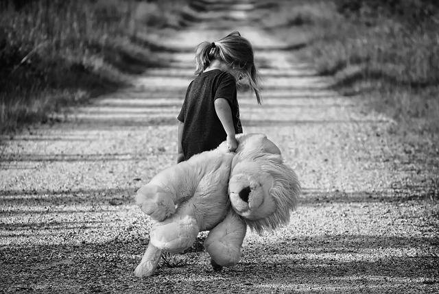 Girl Walking Teddy Bear - Free photo on Pixabay (339020)