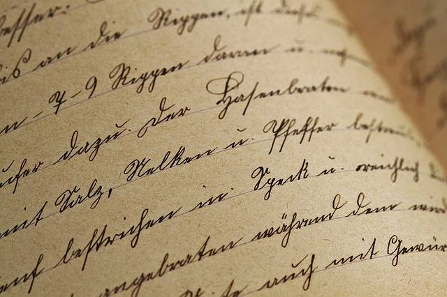 Handwriting Sütterlin Vintage - Free photo on Pixabay (348957)