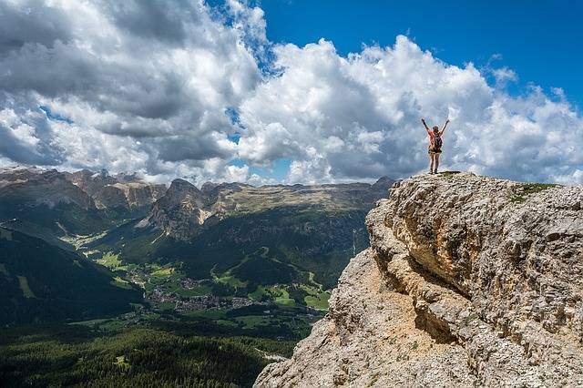 Person Mountain Top Achieve - Free photo on Pixabay (352484)