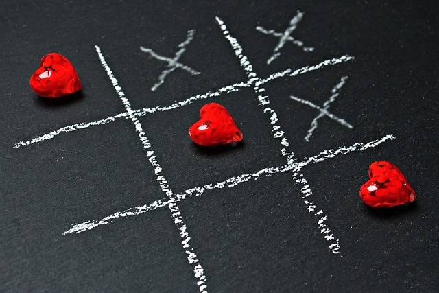 Tic Tac Toe Love Heart - Free photo on Pixabay (358145)