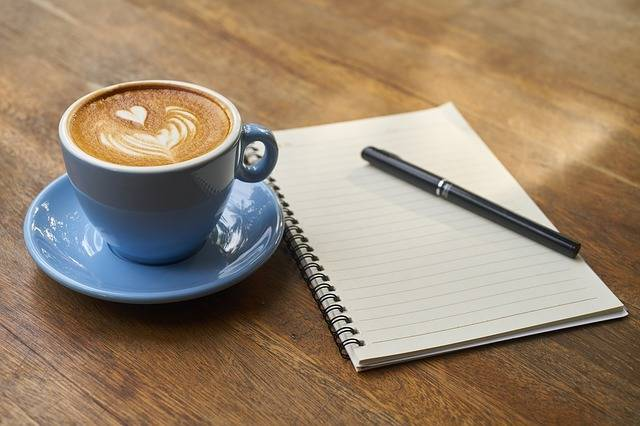 Coffee Pen Notebook - Free photo on Pixabay (372410)