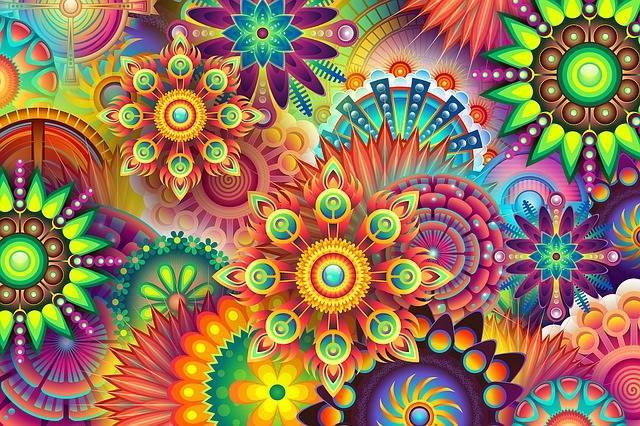 Psychedelic Colorful Colors - Free image on Pixabay (377163)