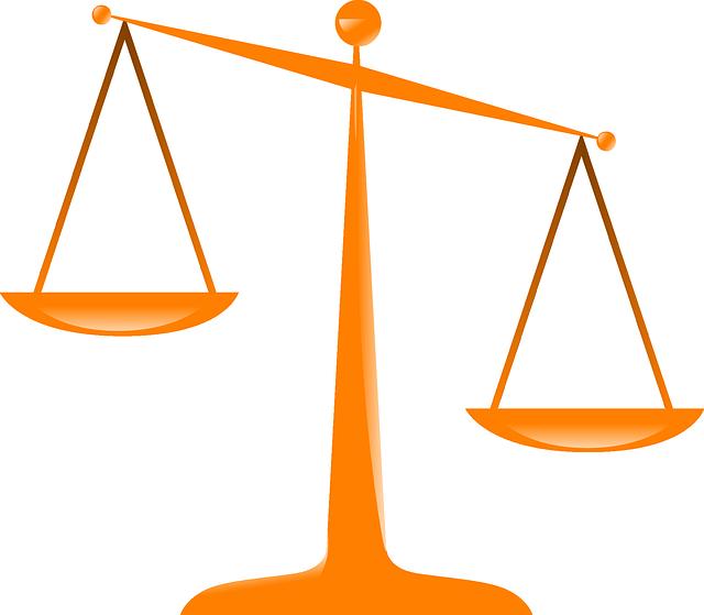 Justice Scales Orange - Free vector graphic on Pixabay (380202)