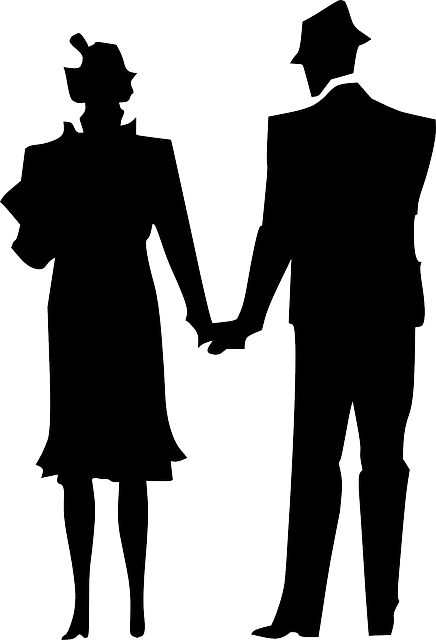 Couple Man Silhouette - Free vector graphic on Pixabay (382184)