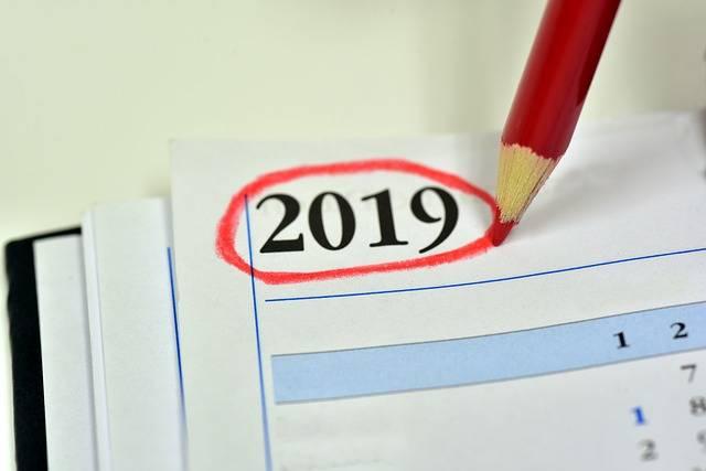 Calendar 2019 Year Turn Of The - Free photo on Pixabay (384949)