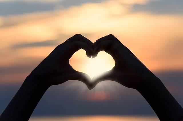 Heart Love Sunset - Free photo on Pixabay (400066)