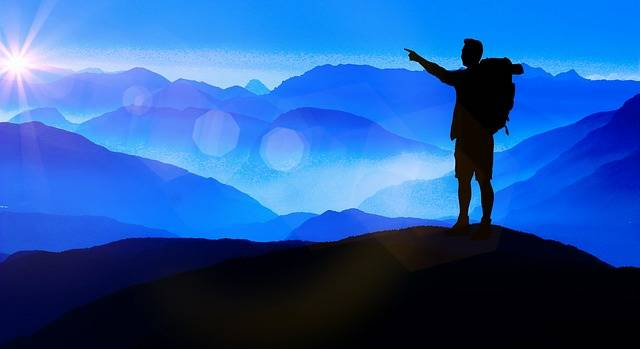 Silhouette Traveller Mountains - Free image on Pixabay (404811)