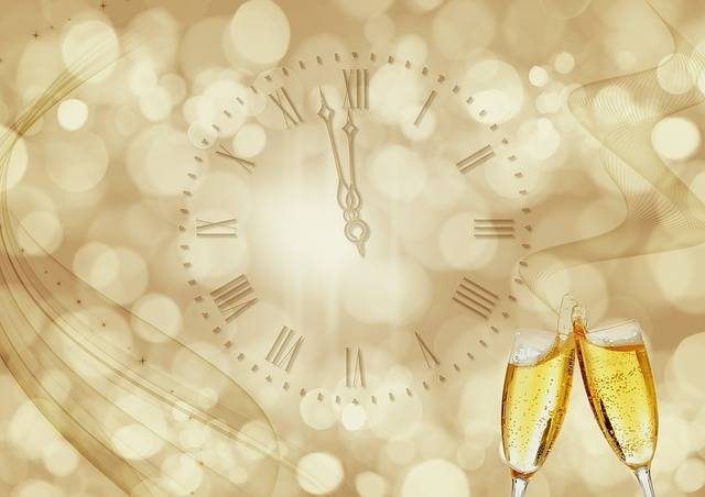 Clock Champagne New Year'S Day - Free photo on Pixabay (411640)