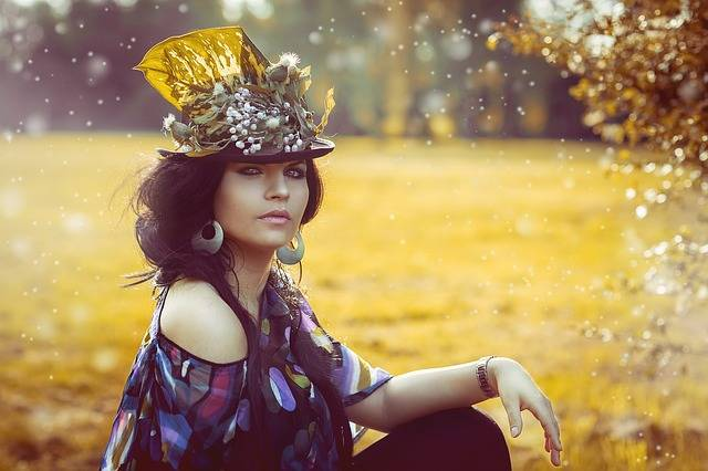 Beauty Woman Flowered Hat - Free photo on Pixabay (413013)