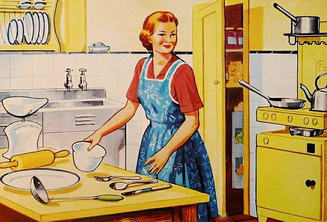 Retro Housewife Family - Free image on Pixabay (450059)