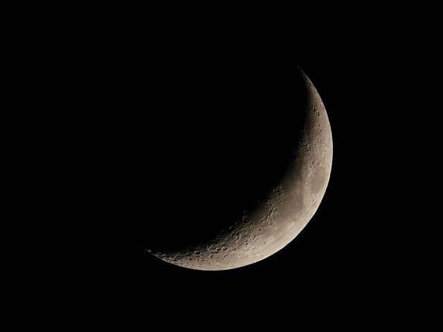 Crescent Moon Lunar - Free photo on Pixabay (453922)