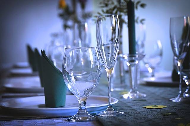 Gedeckter Table Tableware Glasses - Free photo on Pixabay (457073)