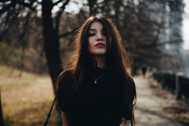 Portrait Girl In The Black Long - Free photo on Pixabay (463756)