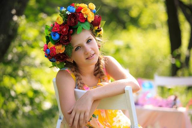 Wreath Kids Summer Photographing - Free photo on Pixabay (481540)