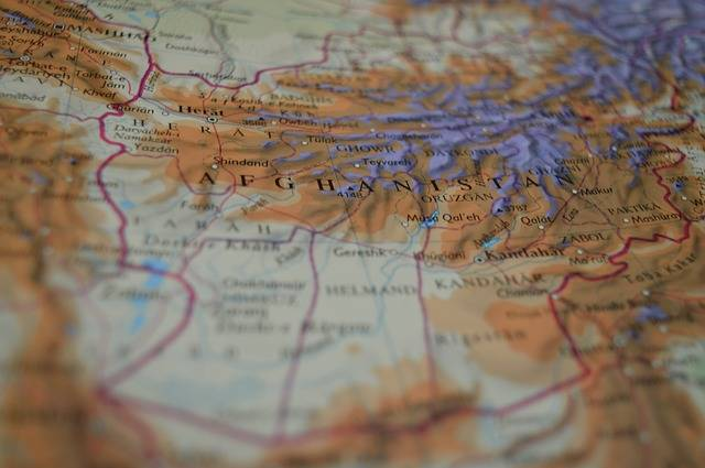 Map Afghanistan Atlas Middle - Free photo on Pixabay (483088)