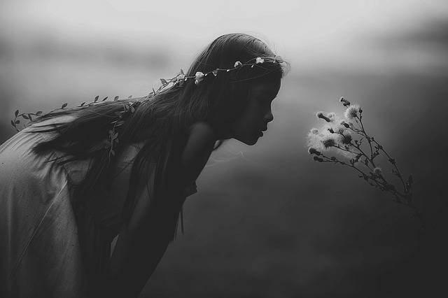 Young Girl Mystical Black And - Free photo on Pixabay (484904)