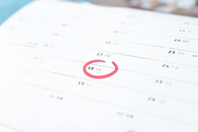 Time Calendar Saturday - Free photo on Pixabay (485602)