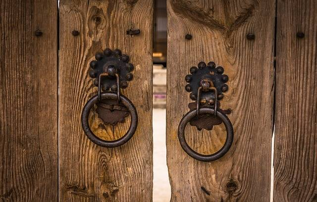 Knocker Traditional Gate The Front - Free photo on Pixabay (488033)