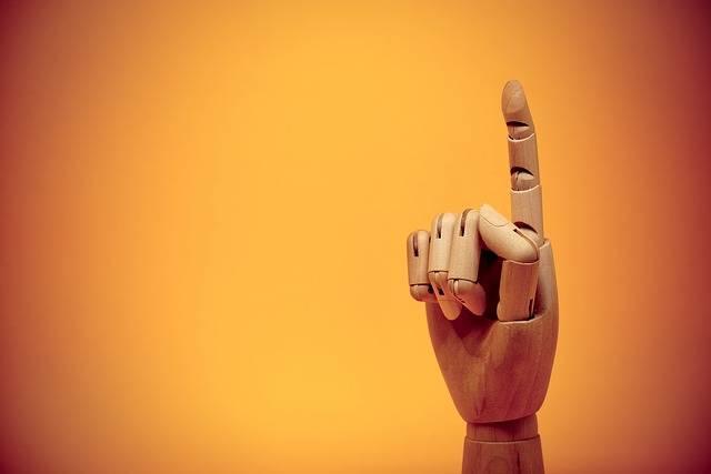 Finger Forefinger Gesture - Free photo on Pixabay (489461)