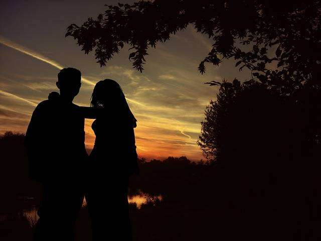 Lovers Silhouette Pair - Free photo on Pixabay (513863)